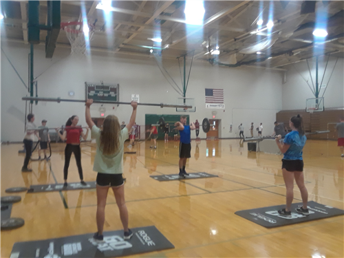 WHS Students in PE Class