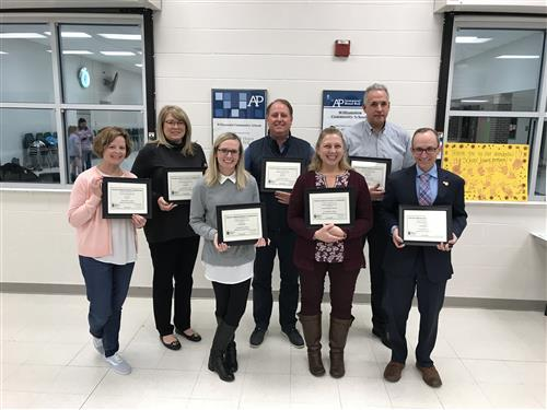 WCS Board of Education Members are Recognized with Williamston Schools Foundation Hornet Awards