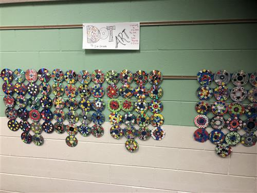 First Grade Art On Display