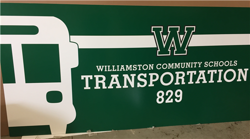 New Transportation Department Sign