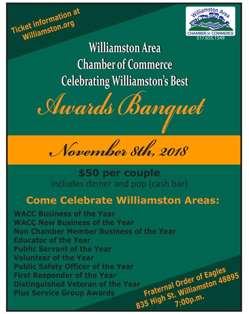 Chamber Awards Banquet Information