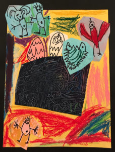 Birds nest, kindergarten artwork