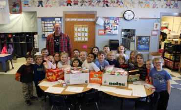 Mr. Forrest and students support Weekend Survival Kits