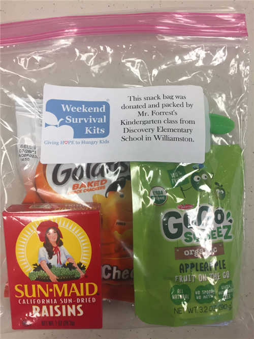 Weekend Survival Kits Donation
