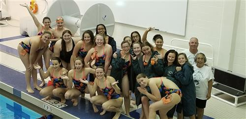 Girls Swim Team CAAC Champs