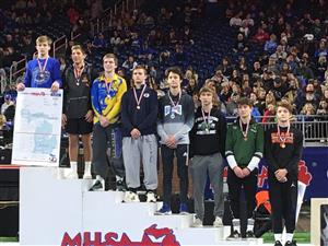 WHS junior Luke placed 6th in the 2020 state wrestling tournament