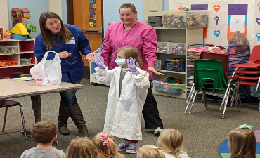 Children's Dental Health Month at Little Hornets