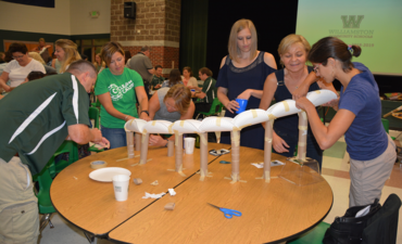 Staff STEAM Activity at Opening Day