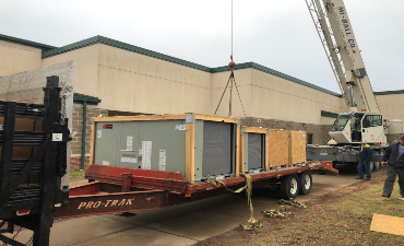 New Heating Units Installed at Explorer Elementary, Winter Break 2019-2020