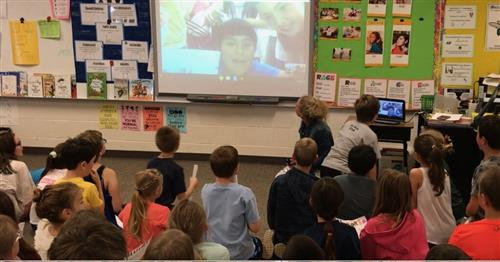 Explorer Students Connect with Pen Pals in Spain