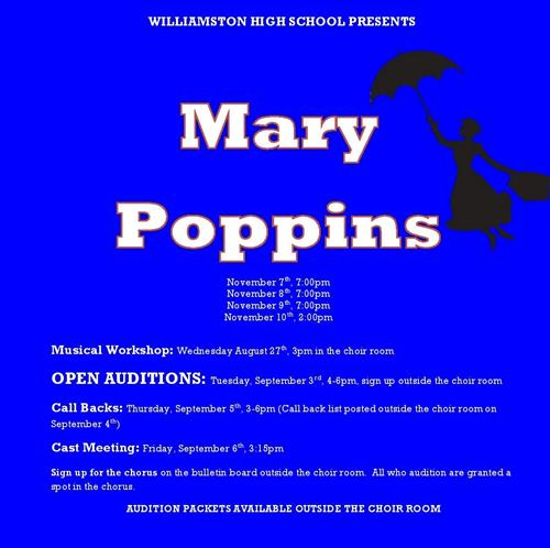 Mary Poppins Play Announcement and Auditions
